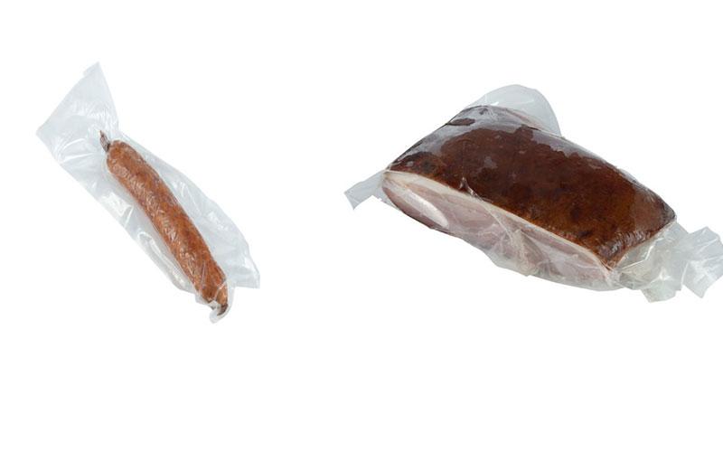 saucisson à l'ail et jambon fumé